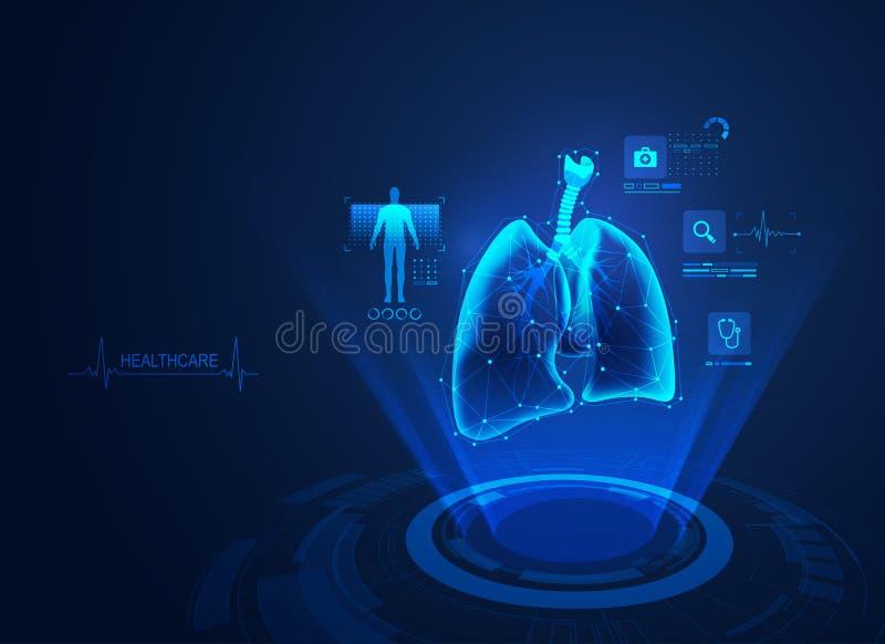 Polmoni medici illustrazione di stock