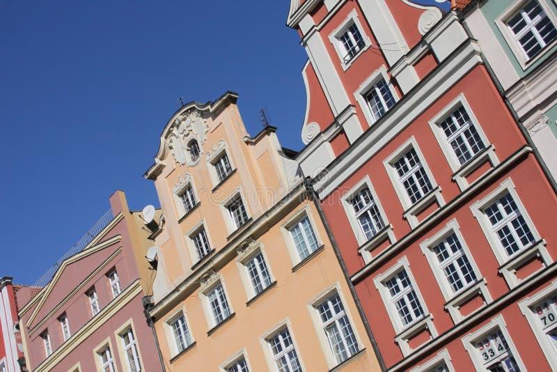 Polnische Architektur stockbilder