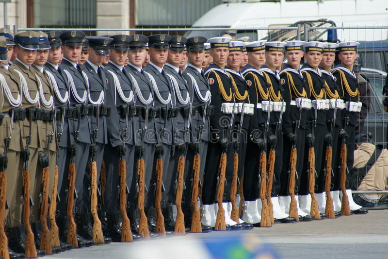 Polnische Armee lizenzfreie stockfotografie