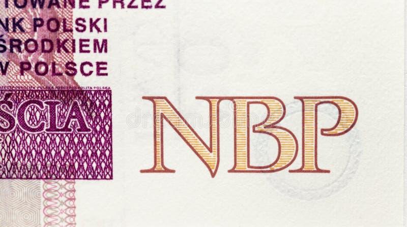 Polnische Banknoten, Nahaufnahme lizenzfreies stockfoto