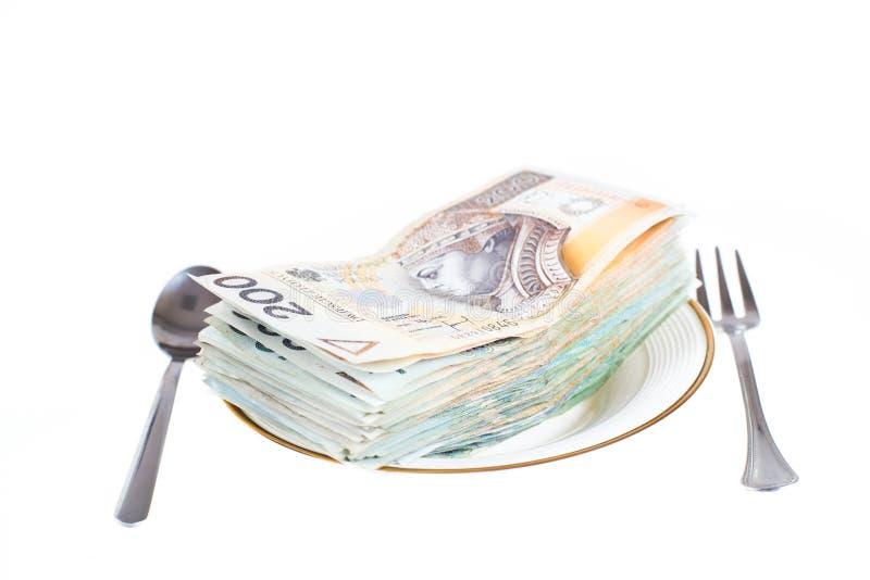 Polnische Geldsparungen in der Metalldose lizenzfreie stockfotos