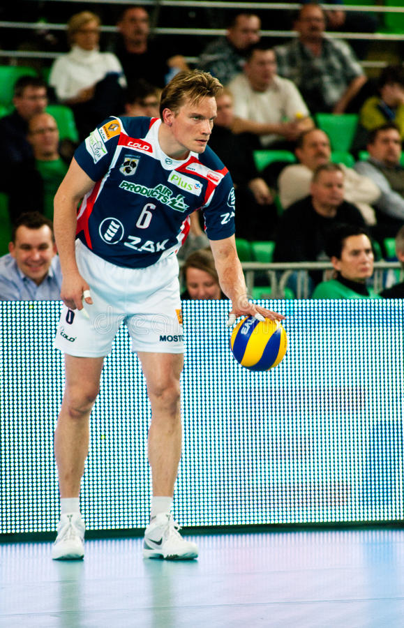 Polnische Pokalspiele des Volleyballs lizenzfreies stockfoto