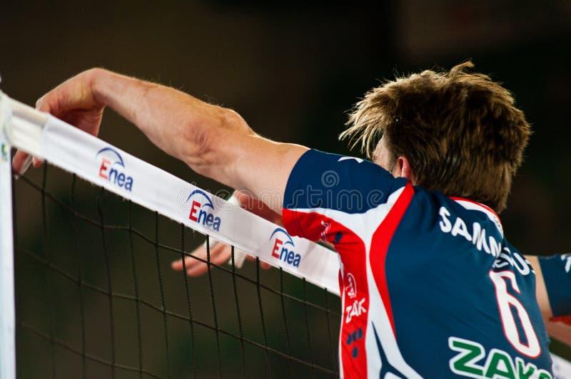 Polnische Pokalspiele des Volleyballs stockfotografie