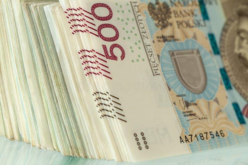 Polnischer Zloty Geld/fünfhundert stockbilder