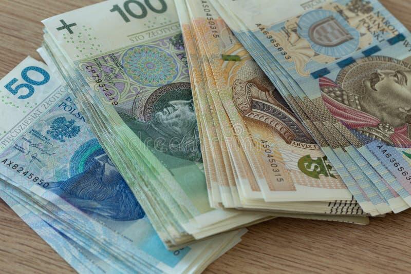 Polnischer Zloty, Geld, unterschiedliches nominales stockfotos