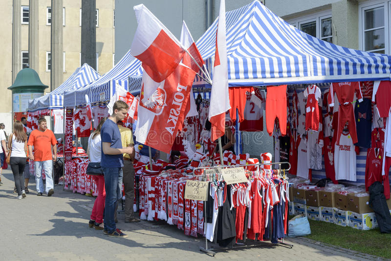 Polnisches lockert Zubehörstände auf stockbild