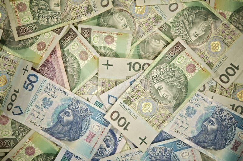 Polnisches Zloty-Geld stockfotos