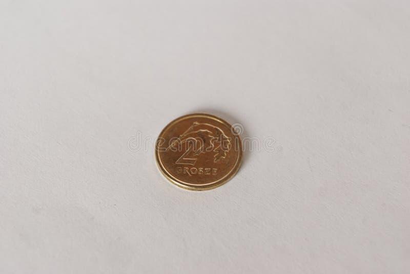 Polnisches zwei-Grosz-Münze stockfotos