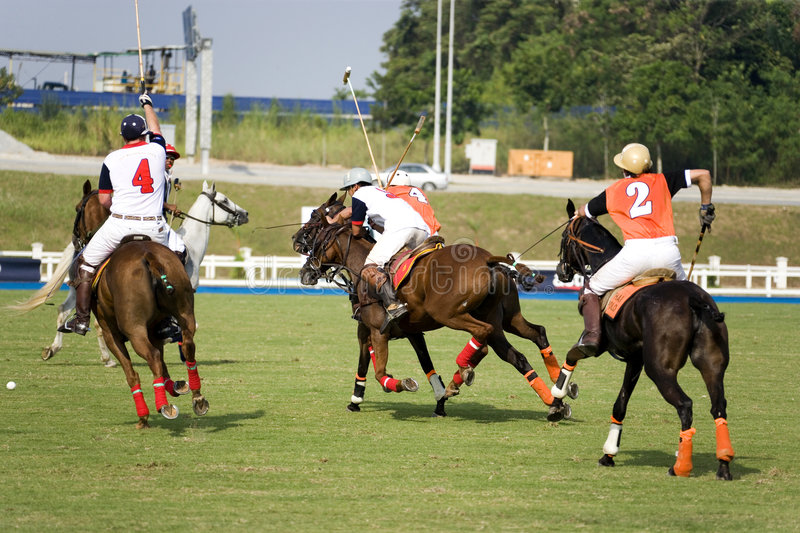 Polo. Image of polo players in action at the Malaysian Polo Open Tournament 2007 royalty free stock images