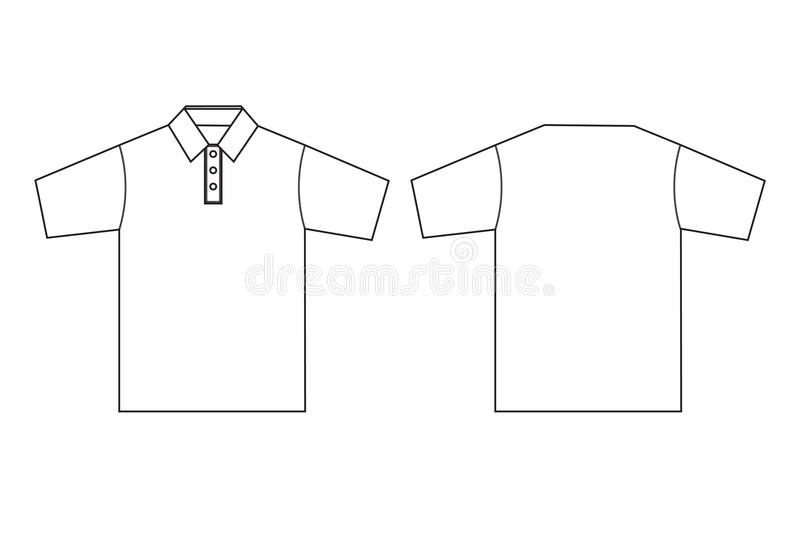 Polo Clothing Template Outline Stock Vector - Illustration of line ...