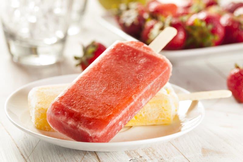 Polo congelado orgánico frío de la fruta de la fresa fotos de archivo libres de regalías