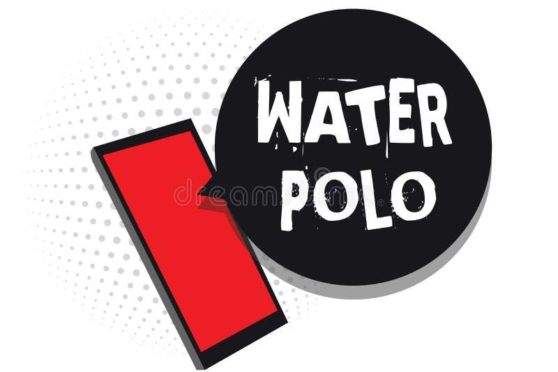 Polo d'eau des textes d'écriture de Word Le concept d'affaires pour le sport collectif concurrentiel a joué dans l'eau entre le r illustration de vecteur