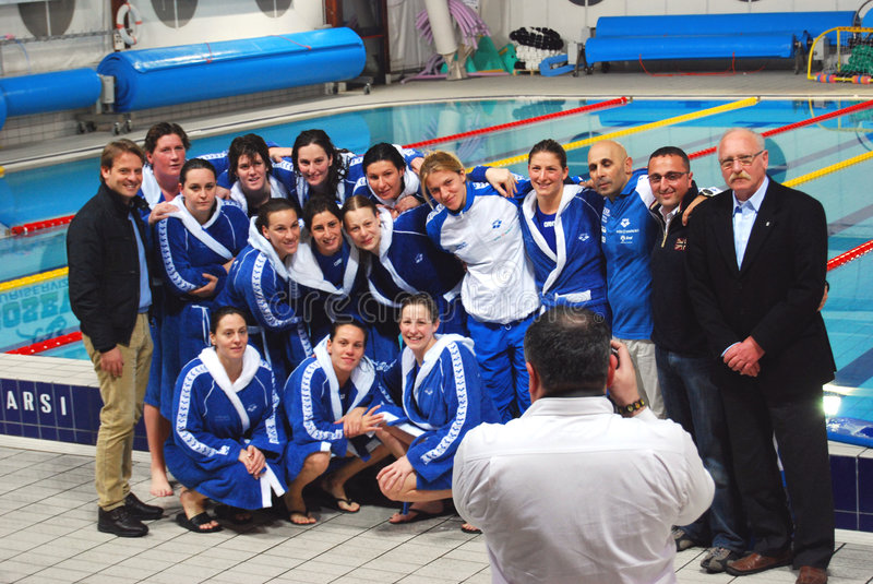 Polo de água das mulheres - Italy foto de stock