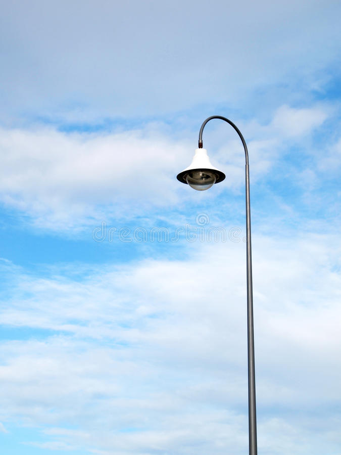 Polo de iluminação público exterior imagem de stock