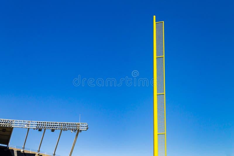 Polo de la bola asquerosa del béisbol imágenes de archivo libres de regalías
