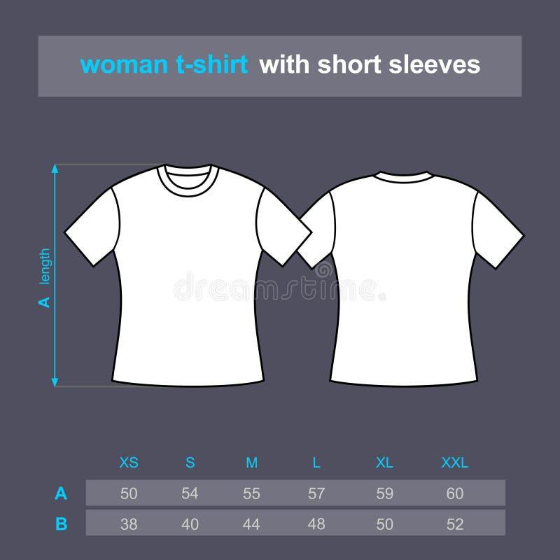 Polo de la camiseta de la mujer stock de ilustración