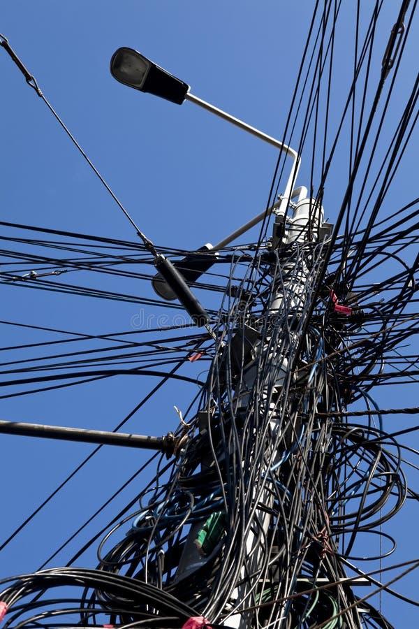 Polo de la electricidad imagen de archivo libre de regalías