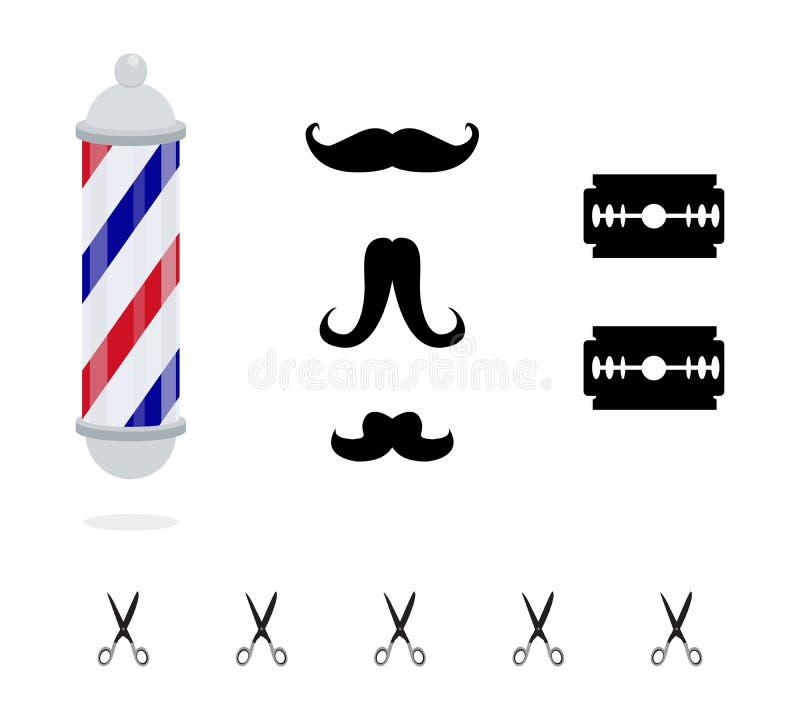Polo del peluquero ilustración del vector
