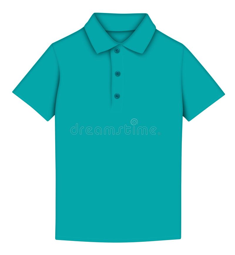 Polo do t-shirt - azul ilustração do vetor