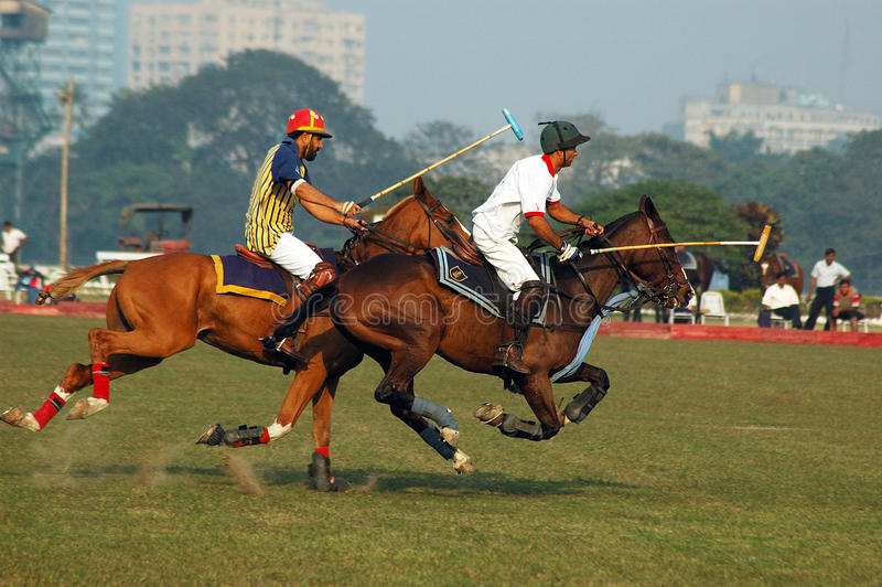 Download Polo Game of Kolkata-India editorial stock photo. Image of sport - 10164773