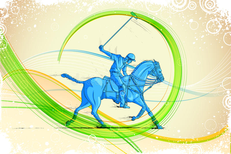 Download Polo Horse Player stock vector. Image of derby, competition - 33279996