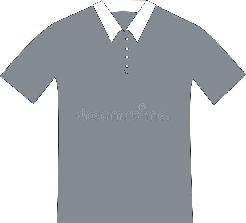 polo koszulę silhouete gray obraz royalty free
