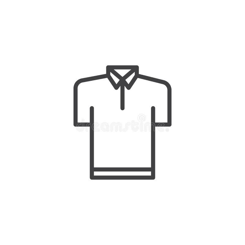 Polo koszula konturu ikona royalty ilustracja