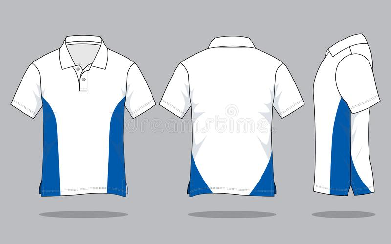 Polo Shirt Design Vector With White Blue Colors Stock Illustration Illustration Of Artworks Girl 162014846