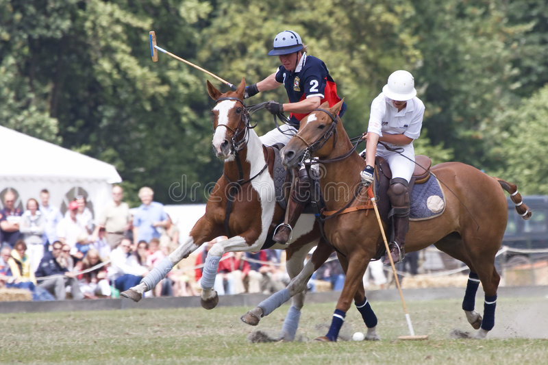 Polo Orange Cup 2008. Action shot of an international polo match Orange 2008 on the 6th of july, the hague, the netherlands. Winner of the competition is stock images