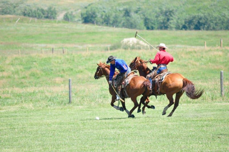 Polo på ranchen för stång U, royaltyfria foton