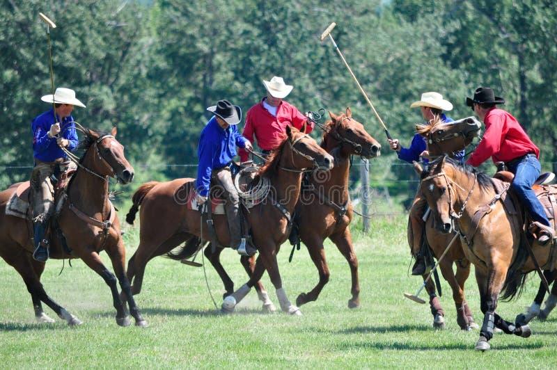 Polo på ranchen för stång U royaltyfria bilder