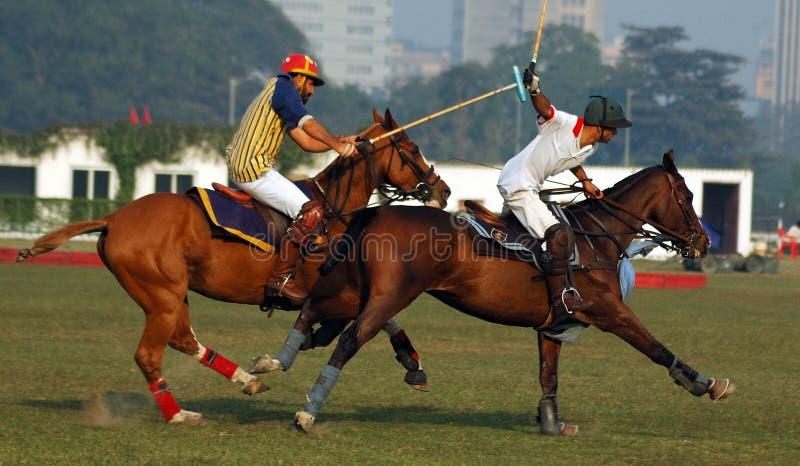 Polo que juega en la Kolkata-India fotografía de archivo libre de regalías