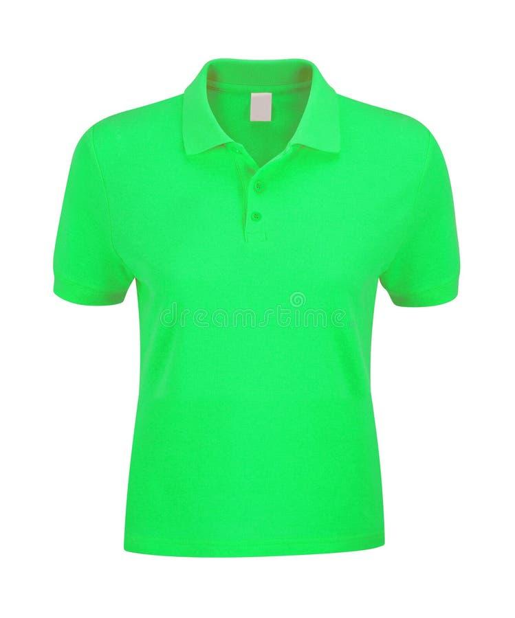 Polo Shirt Green fotografering för bildbyråer