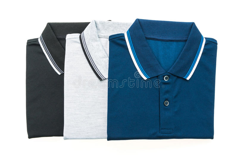 Polo shirt. Men polo shirt isolated on white background stock images