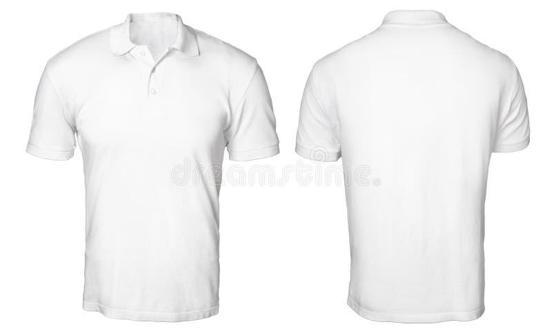 Polo Shirt Mock blanc  image libre de droits