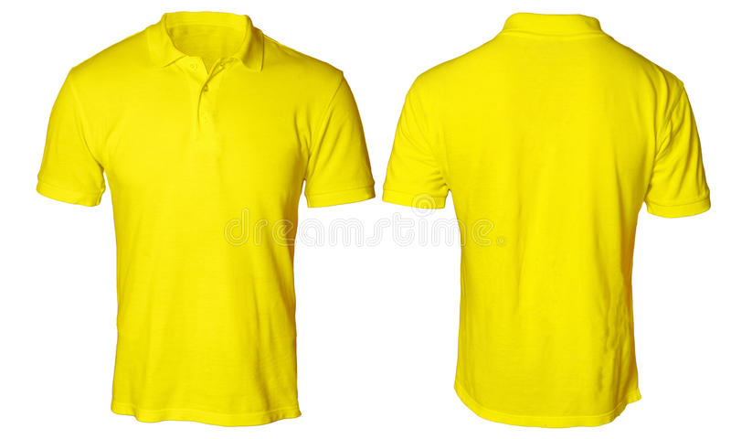 Polo Shirt Mock jaune  photo stock