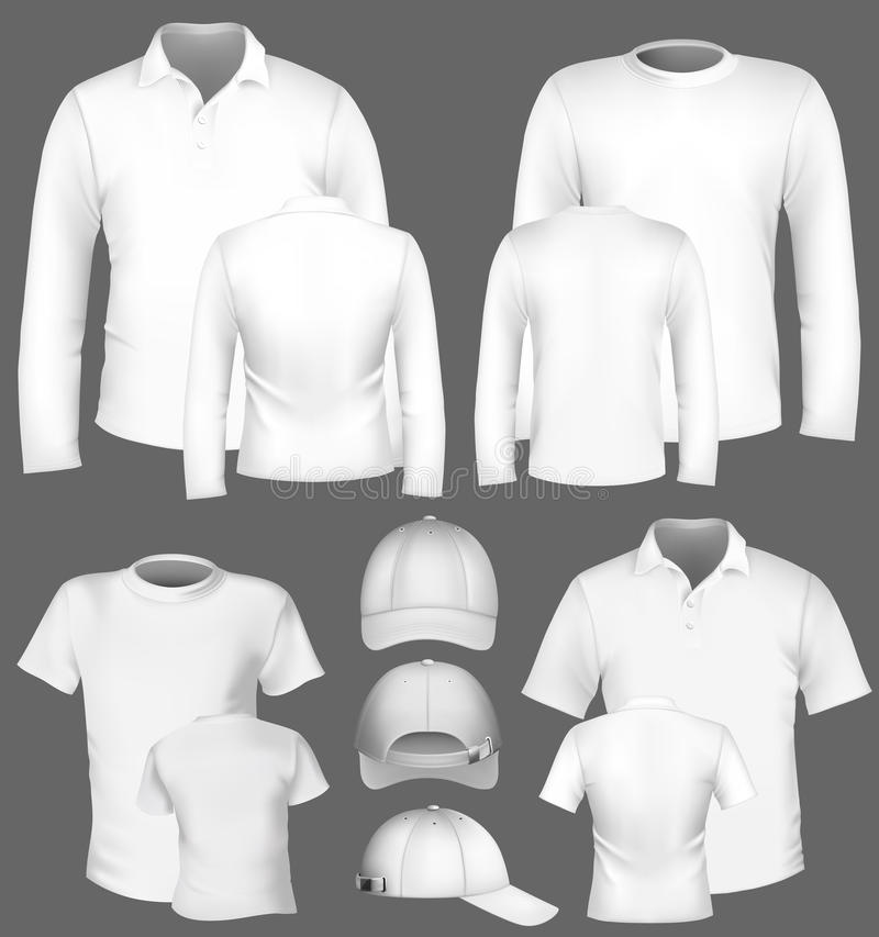 Polo shirt and t-shirt design template royalty free illustration