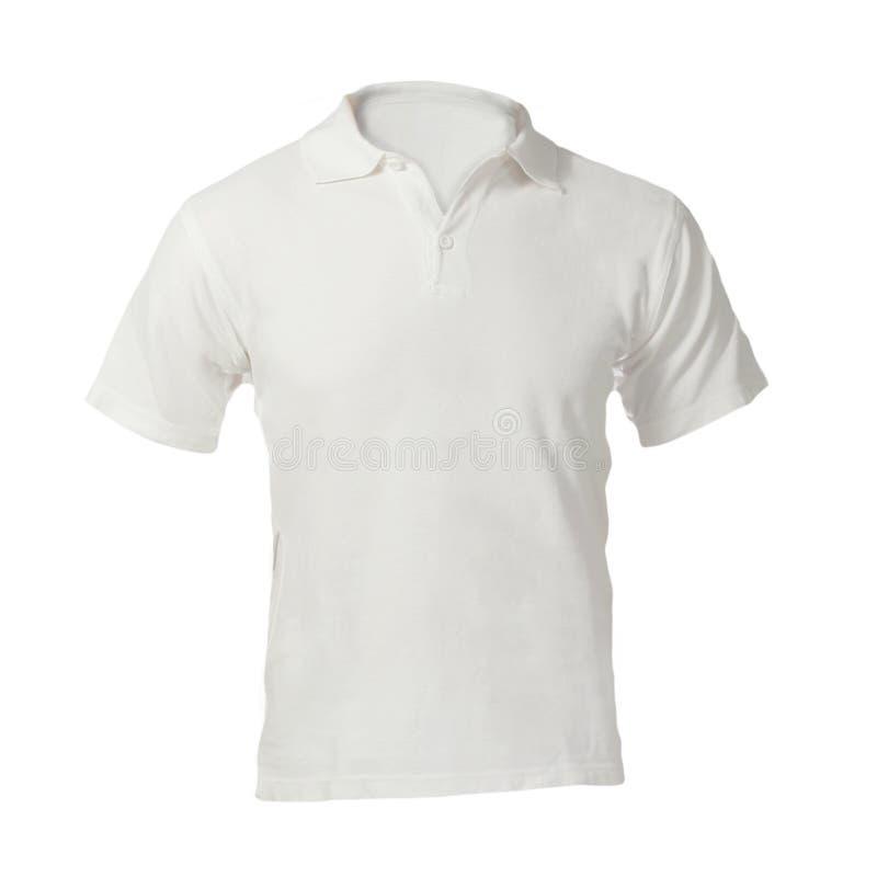Polo Shirt Template bianco in bianco degli uomini fotografia stock libera da diritti