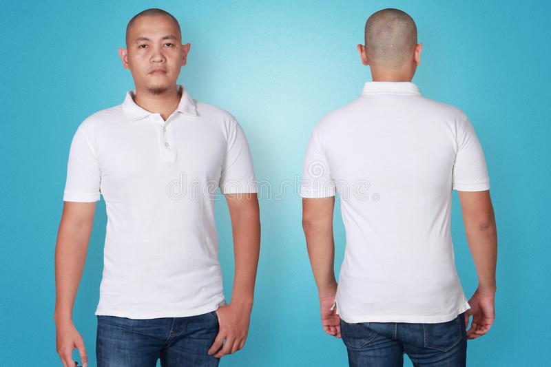 Polo Shirt Template Mock Up Stock Photo Image Of Jeans