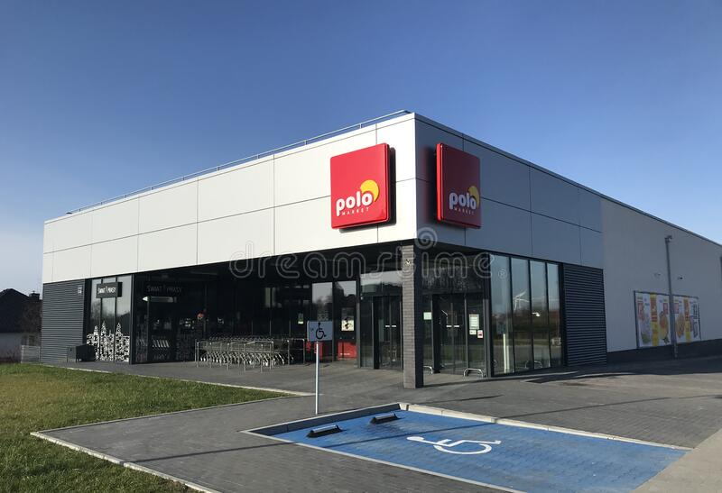 Polo supermarket in Darlowo Poland royalty free stock image