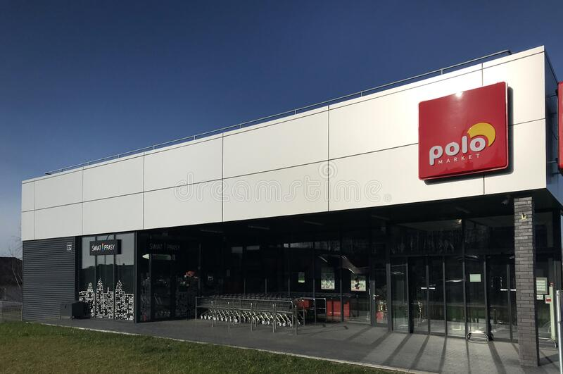Polo supermarket in Darlowo Poland royalty free stock images