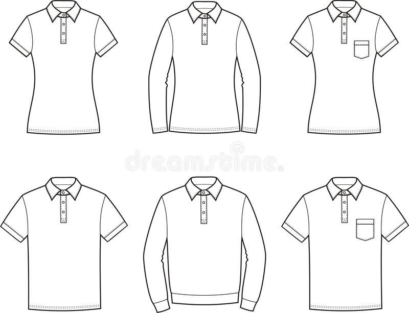 polo t-shirt stock vector  illustration of jumper  drawing