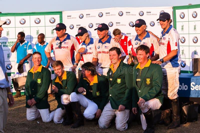Polo USA South-Africa Players Sponsor Presentation Shongweni Hillcrest stock photography