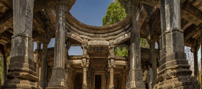 - polo zabytek blisko Abhapur wioski Vijaynagar lasu Północny Gujrat INDIA Asia zdjęcia royalty free