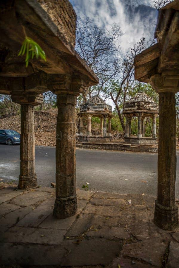 Polo zabytek i Vijaynagar lasu taluk, Sabarkantha północ Gujarat fotografia stock