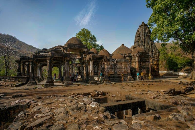 Polo zabytek i Vijaynagar lasu taluk, Sabarkantha północy gujara fotografia stock