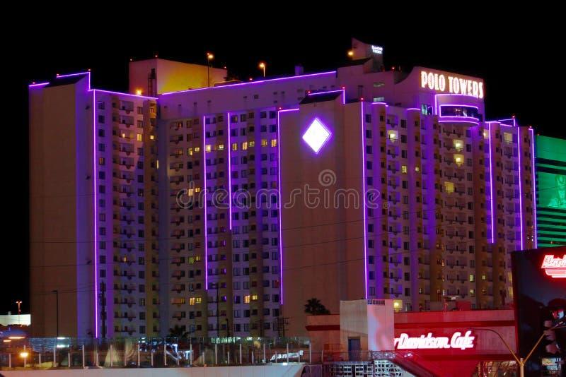 Poloen står hög Las Vegas arkivfoton