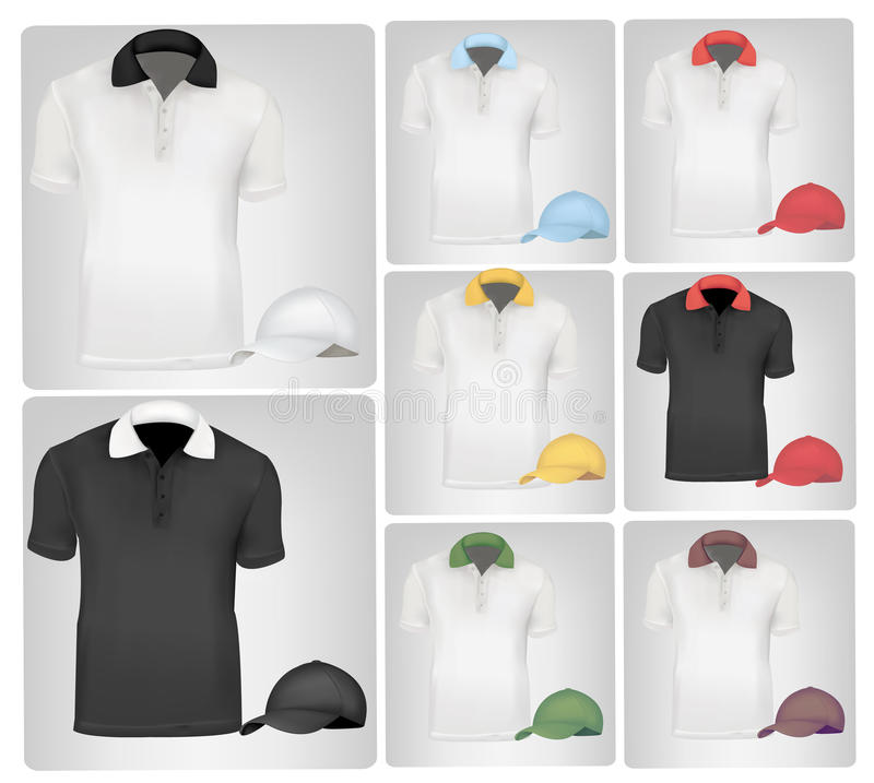 Polohemden und -schutzkappen. vektor abbildung