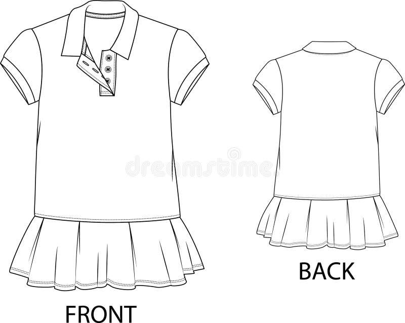 Download Poloklänning Som Isoleras På En Vit Bakgrund Vektor Illustrationer - Illustration av kläder, tekniskt: 78728858