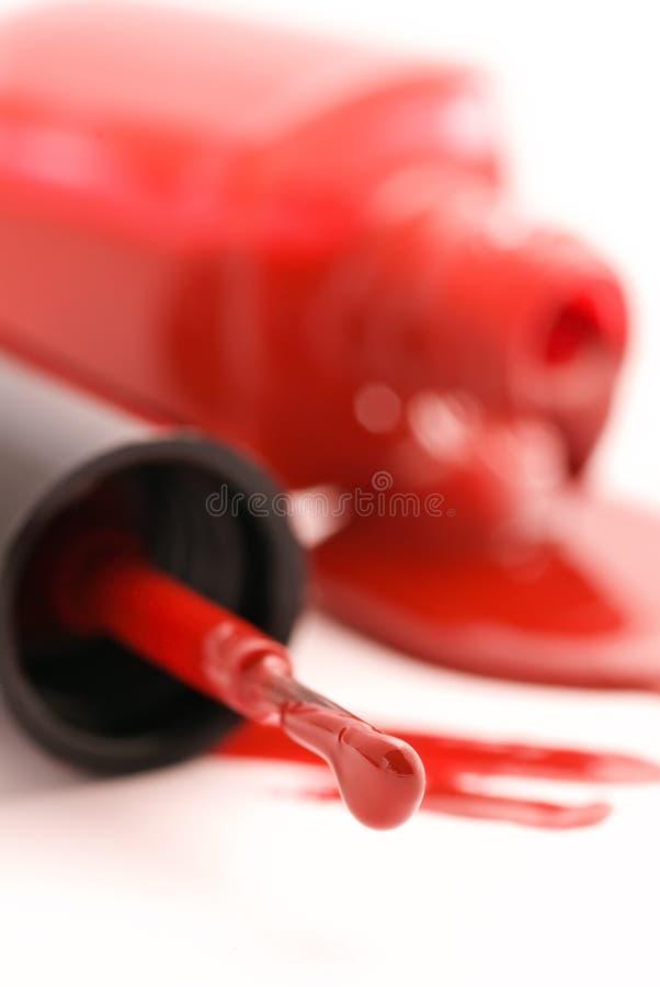 Polonês de prego vermelho imagens de stock royalty free